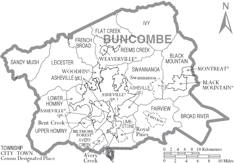 Map_of_Buncombe_County_North_Carolina_With_Municipal_and_Township_Labels